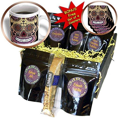 Ancello Sugar Skull - Geometric Sugar Skull - Coffee Gift Baskets - Coffee Gift Basket (cgb_201652_1)