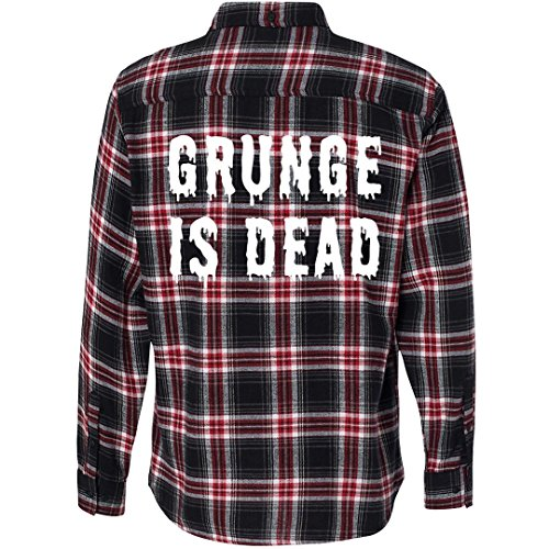 Customized Girl Grunge is Dead Flannel: Unisex Plaid Flannel Shirt