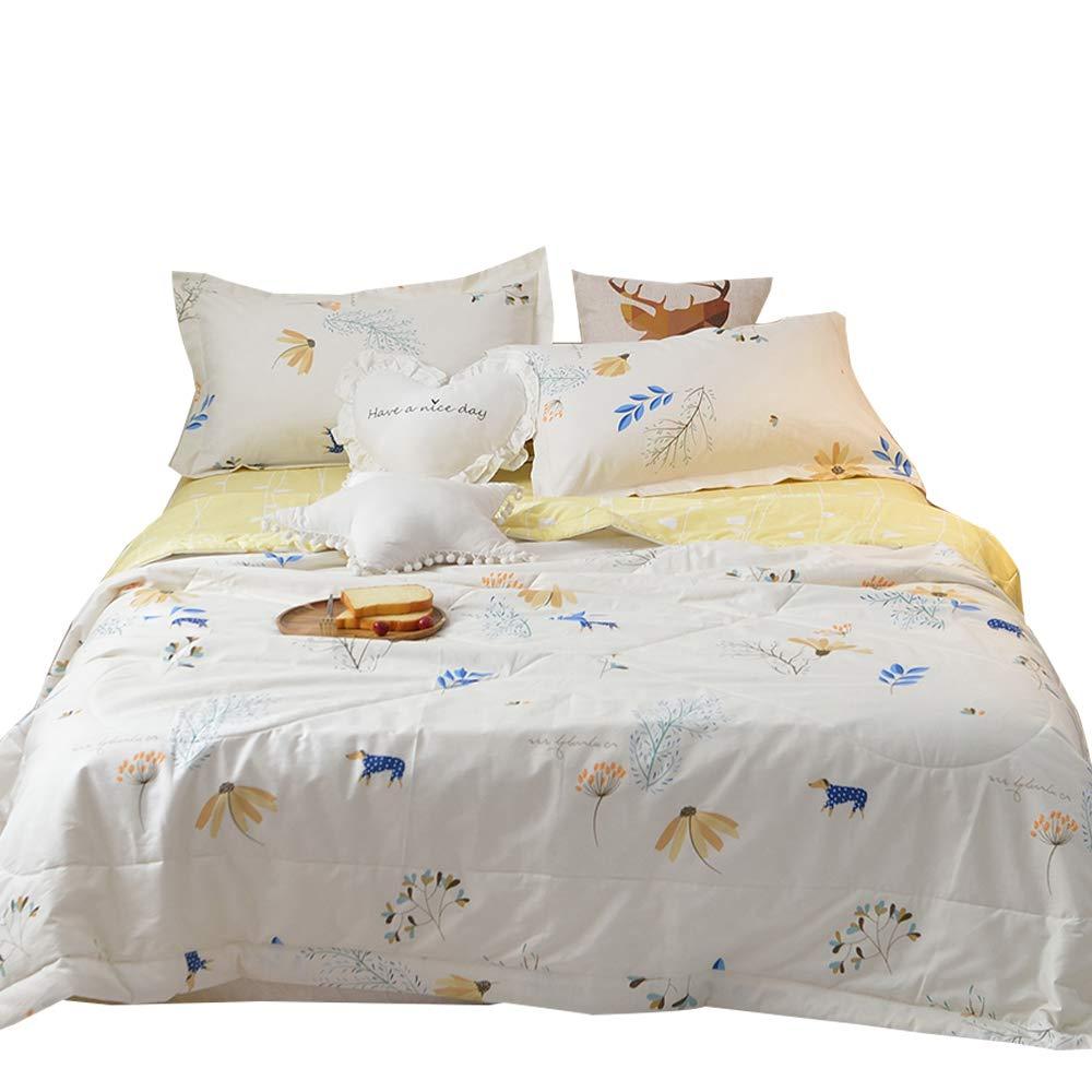 MKXI Thin Comforter Summer Season, Casual Boys Girls Kids Blanket Lightweight Bed Quilt Twin/Queen Size
