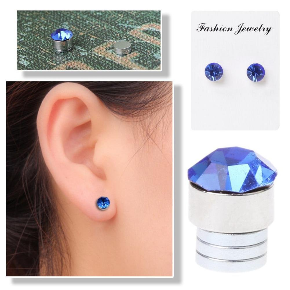 Lottoy 1 Pair Unisex Weight Loss Ear Stud, Healthy Stimulating Acupoints Magnetic Therapy Earrings,No Piercing (Transparent) by Lottoy (Image #4)