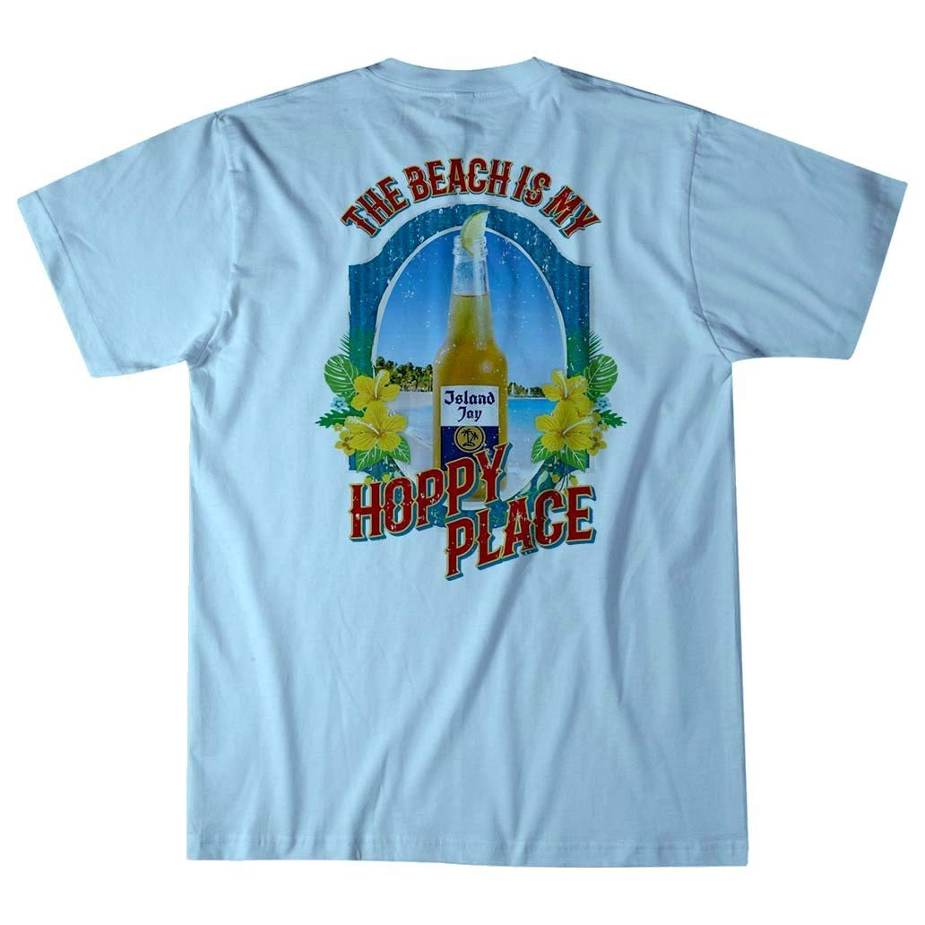 Island Jay The Beach is My Hoppy Place Beer T-Shirt