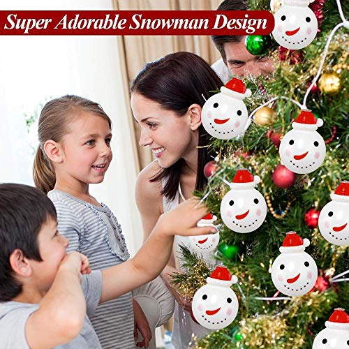 Elitlife Christmas Lights,Set of 3 Battery-Powered LED String Lights, Warm White Snowman Lights Christmas Bell Lights Christmas Tree Lights for Wedding Party,New Year, Garden Decoration (Christmas Snowman Lights)