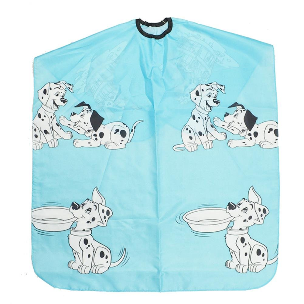 Kid Salon Hairdressing Capes Barber Professional Hair Cutting Gown with Snap Closure Cute Hairdresser Waterproof Cloth for Girl Boy (Blue)