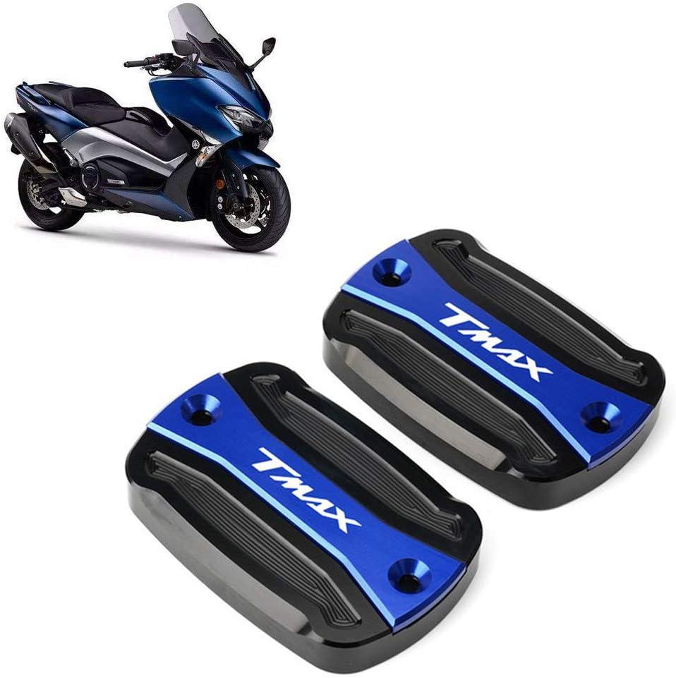 Cubierta de tapa de dep/ósito de combustible de l/íquido de freno de motocicleta de aluminio para YAMAHA T-Max 500 TMAX 500 TMax 530 SX DX 560 TECH MAX TMAX