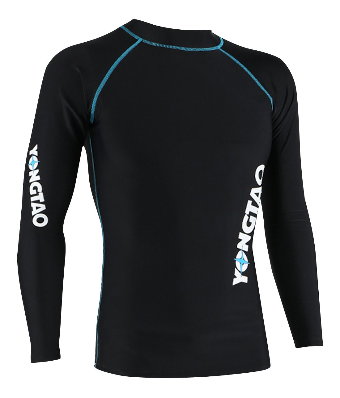 YONGTAO Men Neoprene Quick Dry Swimming Skin Long Sleeve Diving Rash Guard Sun Protective for Canoeing Kitesufing - S