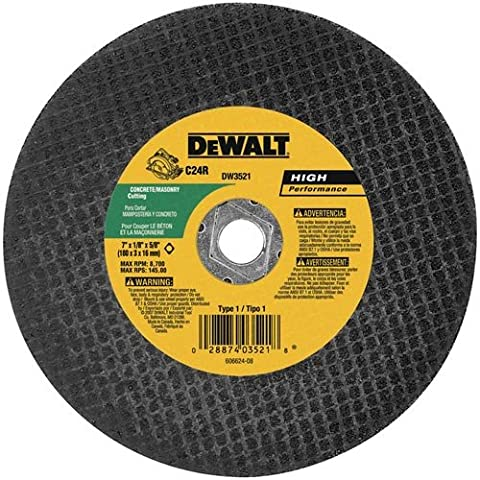 DEWALT DW3521B5 7-Inch High Performance Masonry Cutting Abrasive Saw Blades, 5-Pack - Dewalt Masonry