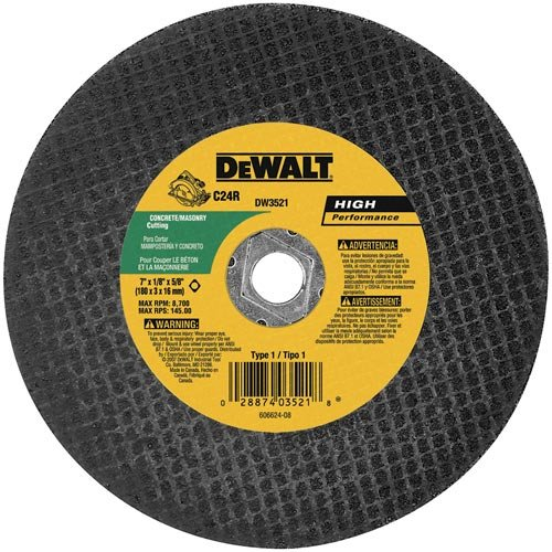 ch High Performance Masonry Cutting Abrasive Saw Blades, 5-Pack ()