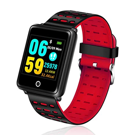 SJZC Rastreador De Ejercicios Reloj Deportivo para Hombre PodóMetro PresióN Arterial Ritmo CardíAco Reloj Inteligente Caja