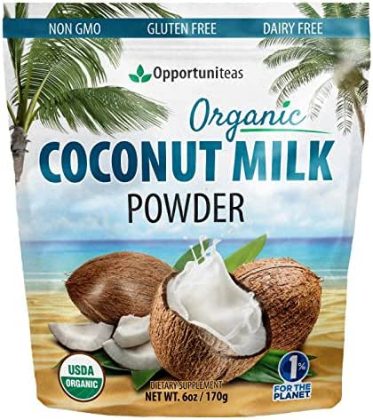 Organic Coconut Milk Powder - Delicious Coffee Creamer for Smoothie Or Shake - Natural Source of MCT & Coconut Oil for Lasting Energy - Non GMO, Gluten Free, Dairy Free, Vegan - 6 oz