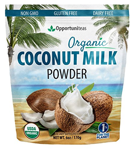 Organic Coconut Milk Powder - Delicious Coffee Creamer for Smoothie Or Shake - Natural Source of MCT & Coconut Oil for Lasting Energy - Non GMO, Gluten Free, Dairy Free, Vegan - 6 oz (Calories In A Slice Of Banana Nut Bread)