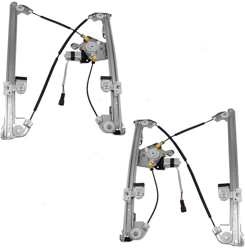 Driver and Passenger Front Power Window Lift Regulators /& Motor Assemblies Replacement for Ford Lincoln 4L3Z1523201CA 4L3Z1523200CA