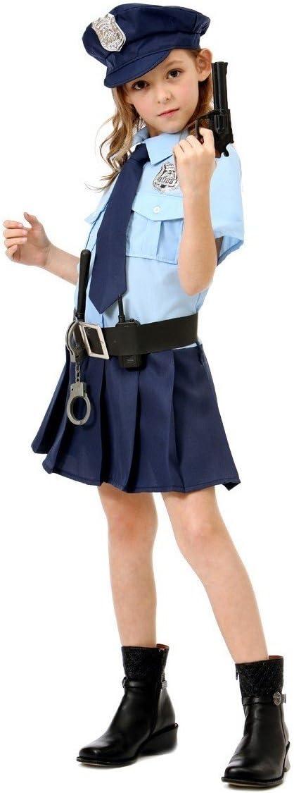 Topwell-375427 Costume Poliziotta Tg M Bambina 8+ 375427 Multicolore