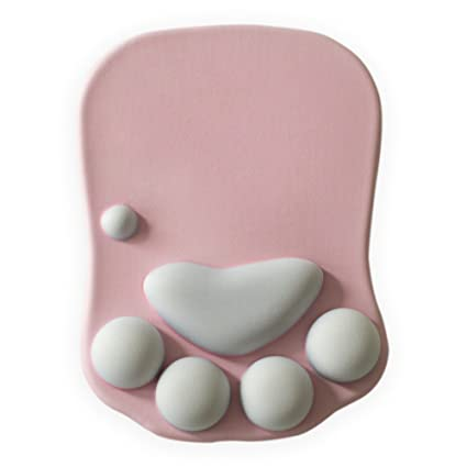 Amazon.com : Yiding Cute Mouse Pad Waterproof Silicone Polyurethane Gel 3D Cat Paw Mousepad Wrist Band Wrist Cushion Wrist Support : Office Products