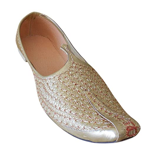 Traditional Handmade Khussa Indian Men Shoes Flip-Flops Sherwani