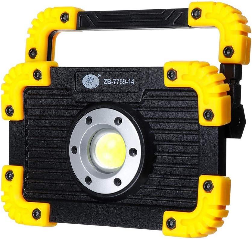 miuline COB Luz de Camping 10W Luz de Trabajo LED Recargable 3 Modos Linterna al Aire Libre Impermeable para la Reparación de Automóviles Pesca Camping Luces de Seguridad de Emergencia (redondeado)