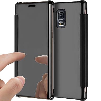 YSIMEE Funda Samsung Galaxy S5,Carcasa Clear View Cover ...