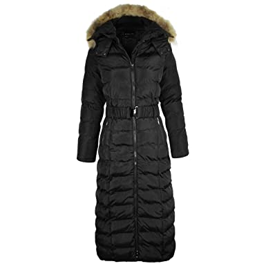 d749caa90b2ef5 Fashion Thirsty LADIES WOMENS LONG BODY FULL LENGTH PADDED QUILTED PUFFER  JACKET WINTER COAT (M