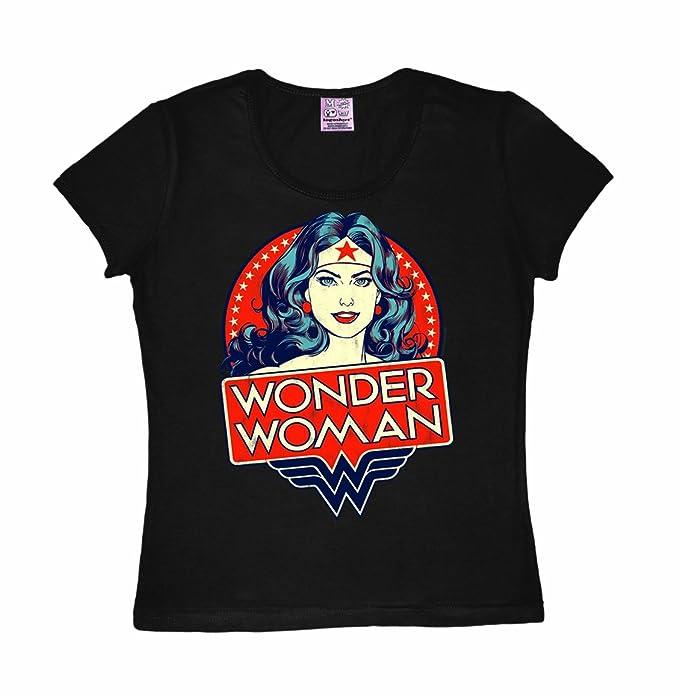 Logoshirt Camiseta para mujer Mujer Maravilla - El Retrato - DC Comics - Wonder  Woman - 0e8ac4803cce4