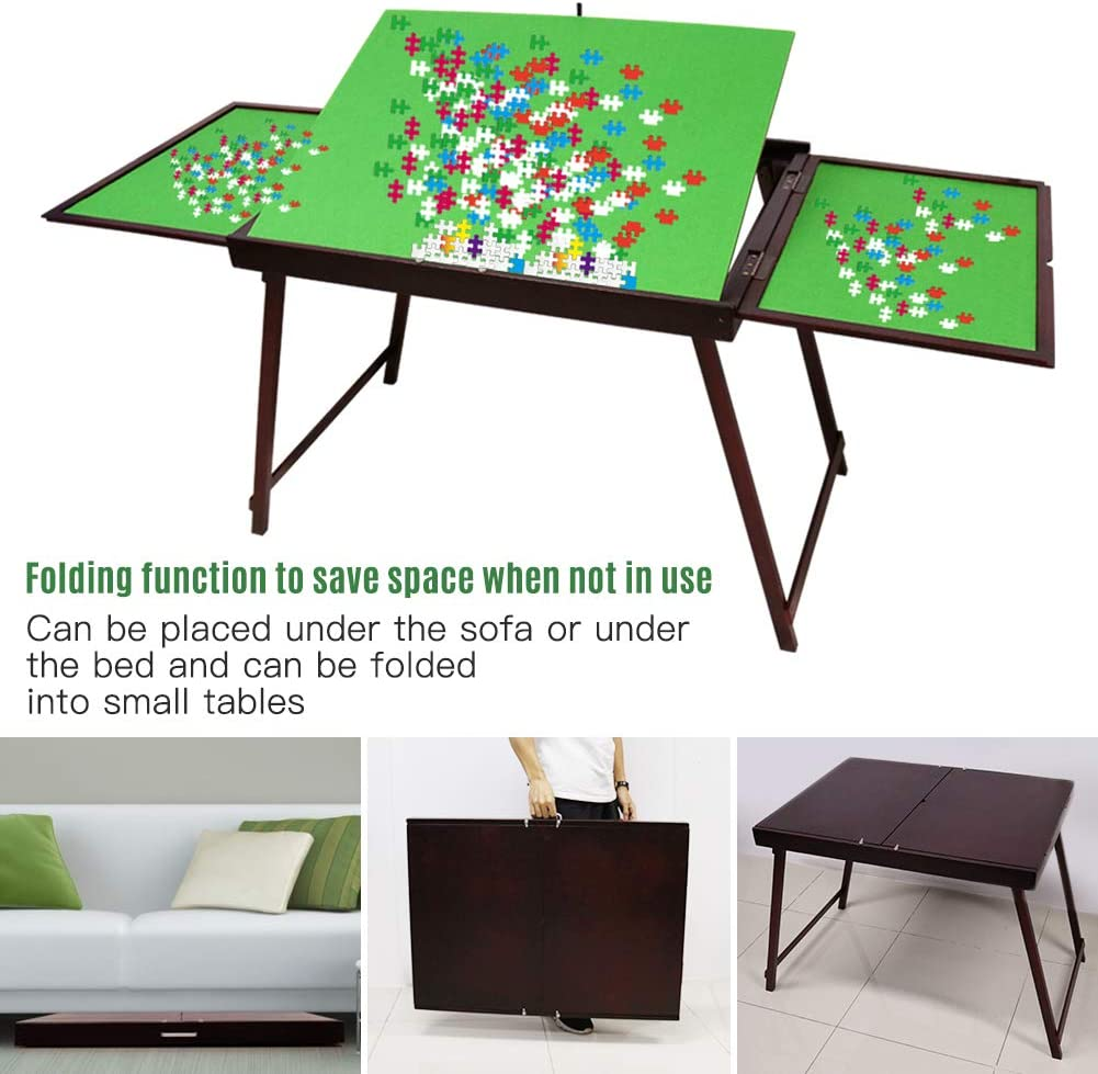 Holz Fold-And-Go Jigsaw Table,Collapsible Jigsaw Puzzle Table and Storage System Fits 1500 pc Puzzles,Versand aus UK