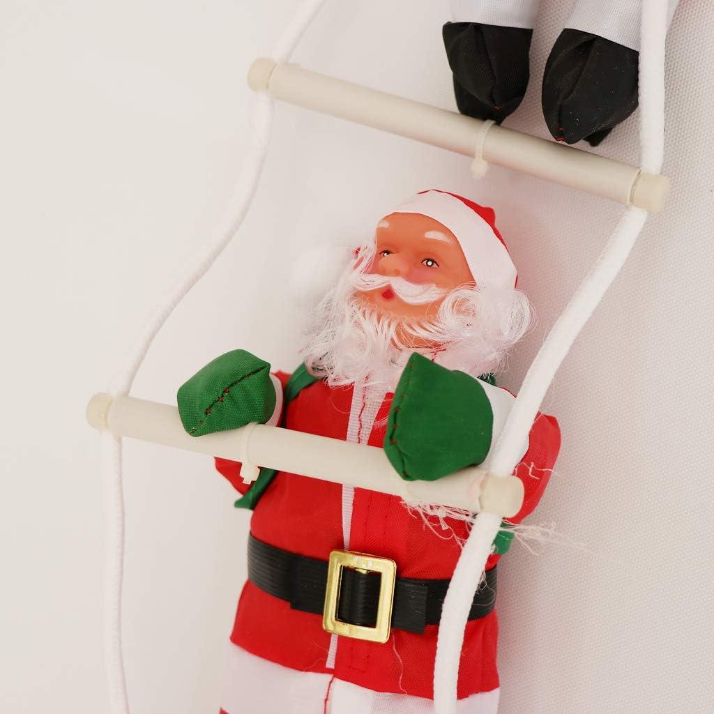 LOVIVER Escalera Navidad Papá Noel Escalera Muñeca Árbol De Navidad Colgando Fiesta Regalo Juguetes - 2 Santa, Tal como se Describe: Amazon.es: Hogar