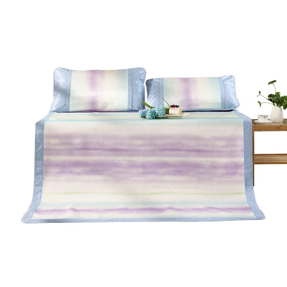 WENZHE Matratzen Sommer Matratze Sommerschlafmatte Sommermatte EIS Seide Gewebte Zusammenklappbar Hautfreundlich Atmungsaktiv Bettwäsche Schlafzimmer, 3 Größen Strohmatte Teppiche