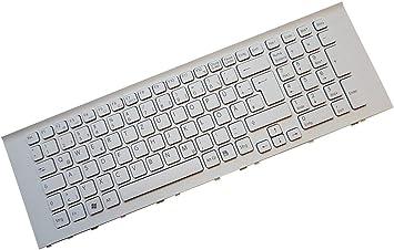 X-Comp Teclado blanco con marco para Sony Vaio VPC-EF VPCEF ...