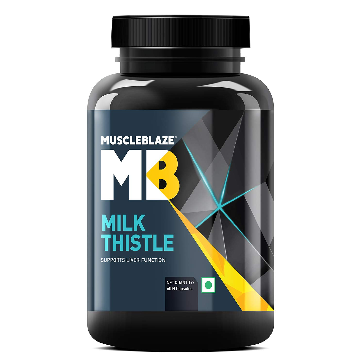 MuscleBlaze Milk Thistle With Silybum Marianum 600 mg for Liver detox 60 capsules