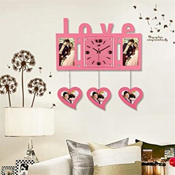 Amazon.com: Kaxima Art wall clock living room bedroom wall clock ...