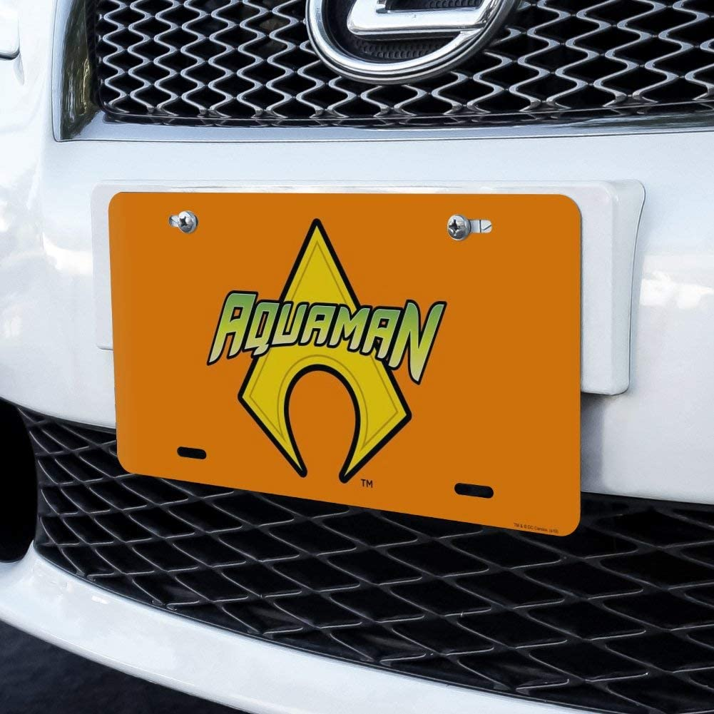 Graphics and More Aquaman Logo Novelty Metal Vanity Tag License Plate