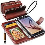 N+ India Lenovo Vibe K4 Note Rich Leather Stand Wallet Flip Book Pouch Soft Phone Bag Antique Leather Case With Mini Touch Stylus Pen Brown