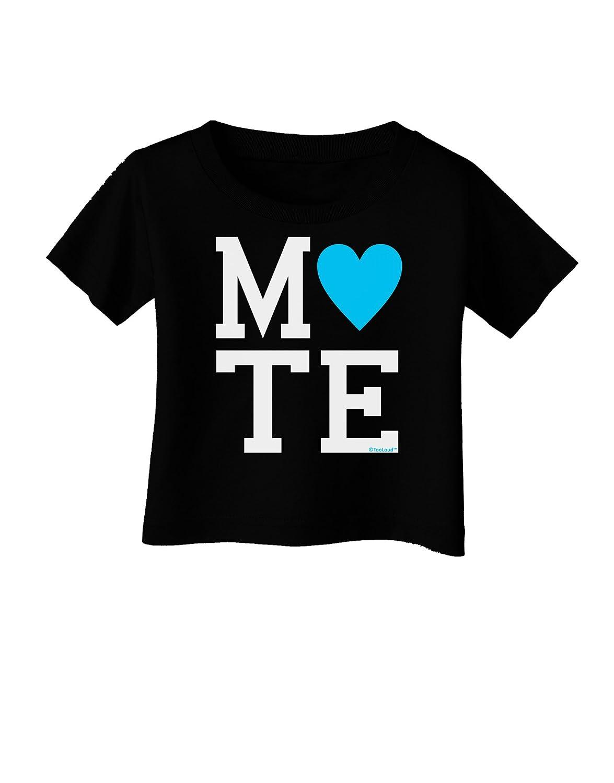 TooLoud Matching Soulmate Design Blue Infant T-Shirt Dark Mate