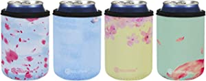 12 Ounce Standard Can Sleeves Insulators Standard Can Skin Covers 12 Ounce Beer Coolers Standard Can Holder Coolie Wedding Standard Can Sleeves Holder-Flowers Set