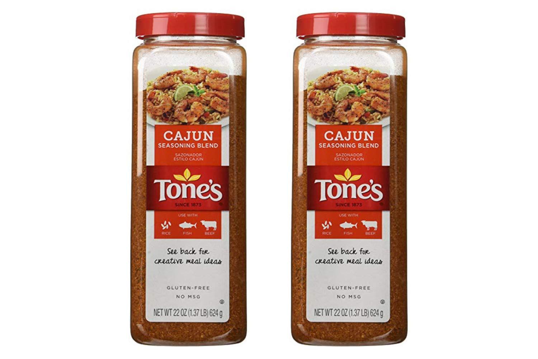 Tones Cajun Seasoning - 22 oz. shaker (2 Pack)