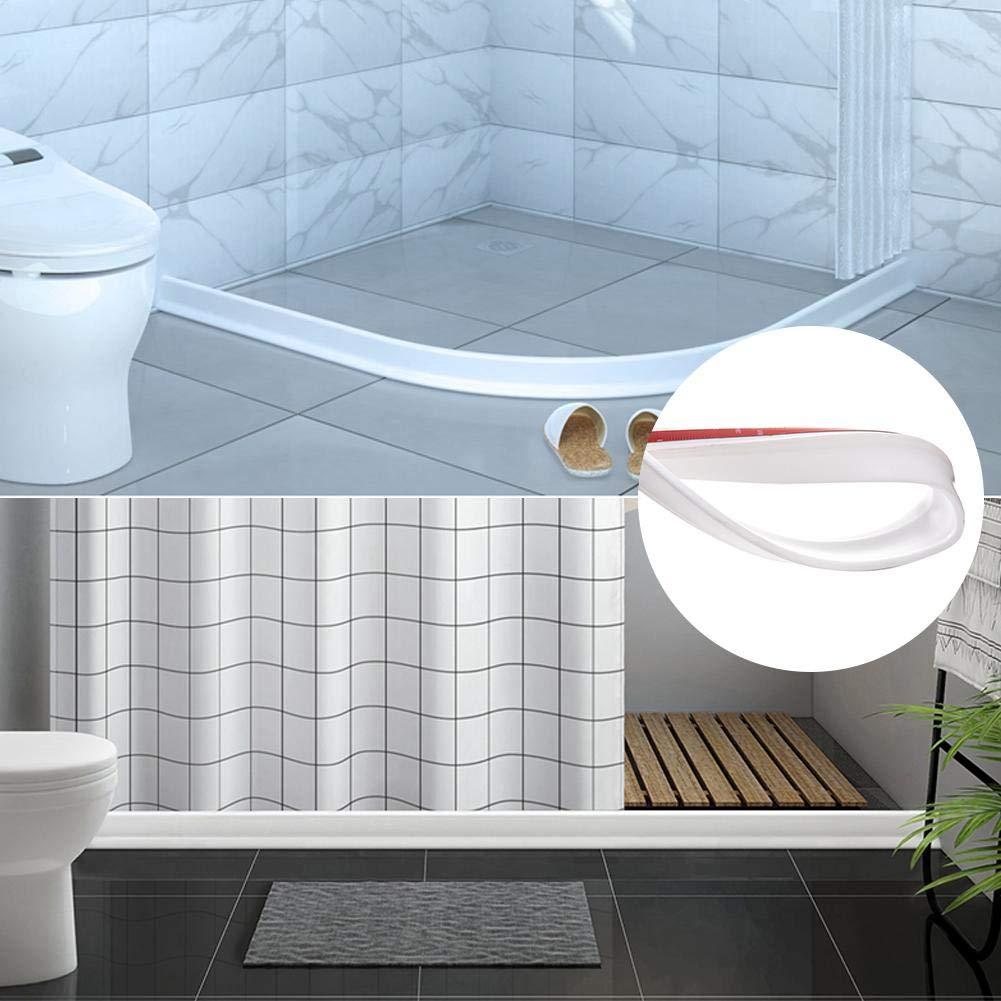 atteryhui Umbral de Ducha Plegable Presa de Agua Barrera de Ducha y Sistema de retenci/ón y Mantiene el Agua Dentro del umbral