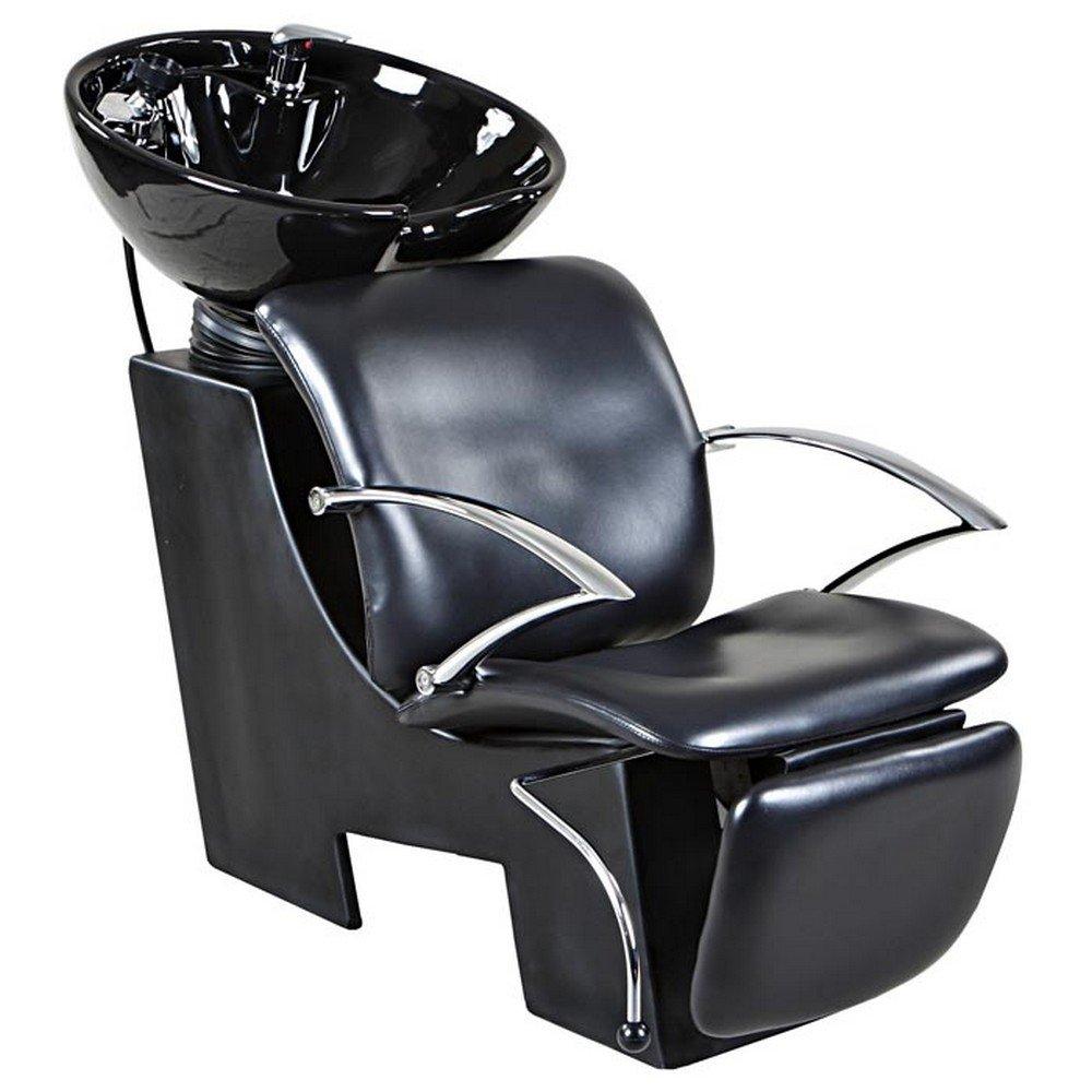 Icarus ''Davis'' Black Beauty Salon Shampoo Chair & Sink Bowl Backwash Unit