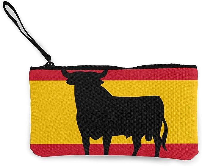 Bandera de España con Cartera de Embrague con Brazalete Bull de Osborne para Mujeres niñas, Carteras pequeñas de Organizador de Embrague Bolso Largo de Embrague para Mujer: Amazon.es: Equipaje