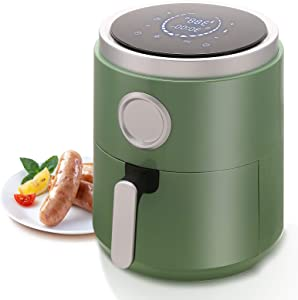 Kismile 1400-Watt Air Fryer Oven, 5.2 Quart Hot Air Fryer Oil less with Digital LCD Screen, Electric Air Fryer Oven for Healthy Cook (Green)