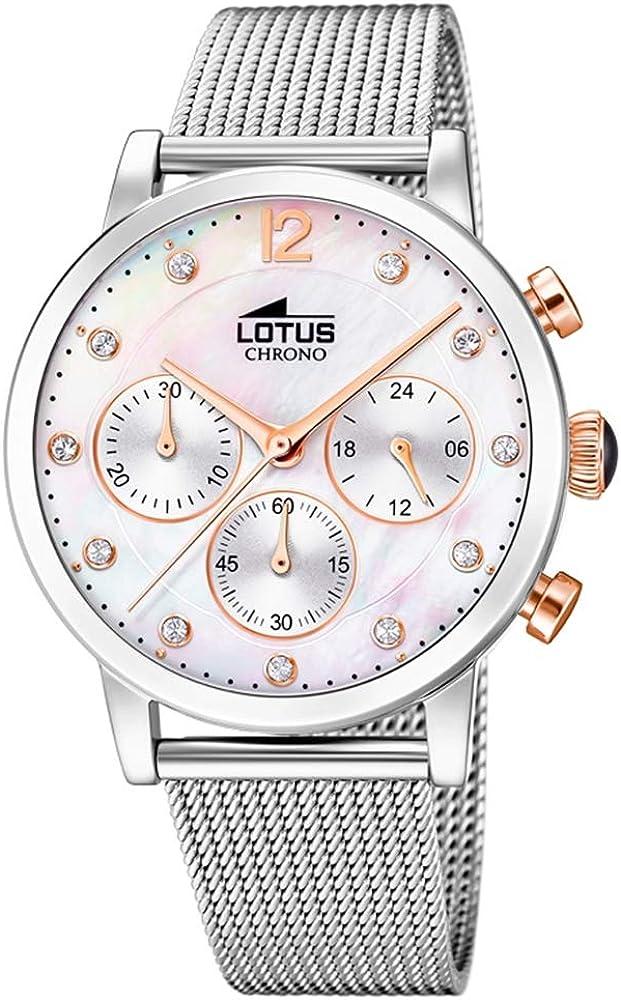 Lotus Reloj Cronógrafo para Mujer de Cuarzo con Correa en Acero Inoxidable 18676/1