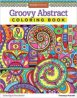 amazoncom groovy abstract coloring book design originals coloring is fun 9781574219623 thaneeya mcardle books - Abstract Coloring Books