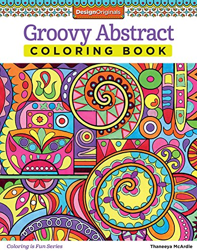 Design Originals Book - Groovy Abstract Coloring Book (Design Originals) (Coloring is Fun) Relaxing & Meditative Beginner-Friendly Art Activities with Swirls, Doodles, Shapes, and Patterns on High-Quality Perforated Paper