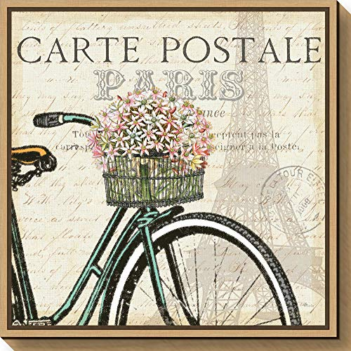 (Amanti Art Paris Ride I by Pela Studio Canvas Art Framed, Medium, Maple)