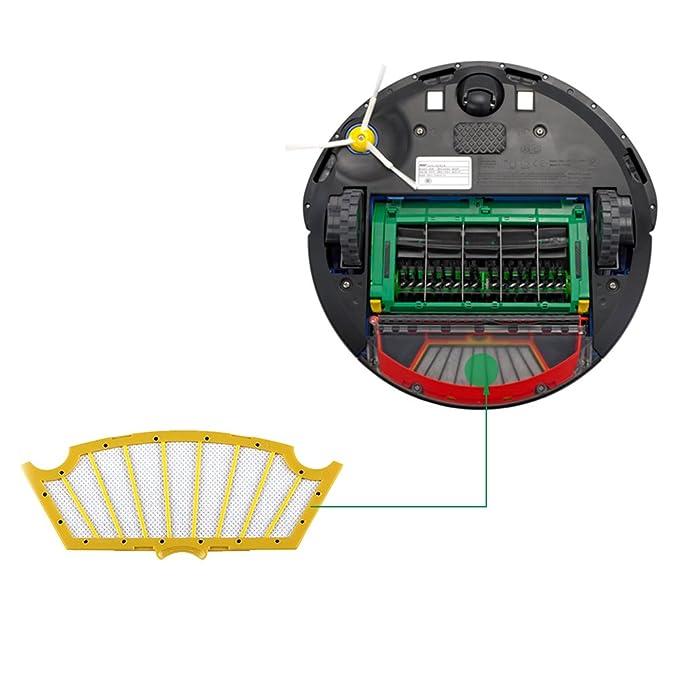 Yosahaw Kit de Reemplazo para iRobot Roomba Serie 500 Recambios for Roomba 500 505 510 520 521 530 531 532 533 534 535 536 540 545 550 552 560 561 562 563 ...