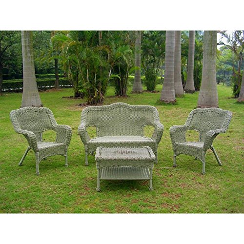 International Caravan 4 Piece Maui Outdoor Seating Set in...