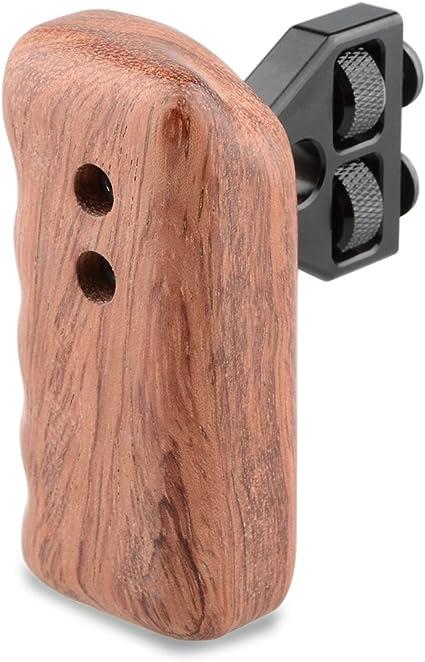 Camvate Dslr Holz Griff Grip Halterung Für Käfig Dv Kamera