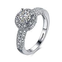 Women's 18k White Gold Plated Watch Shape Diamond Best for Weddding Engagement