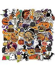 Halloween Stickers Pack Bulk  50Pcs Pumpkin Stickers - Aesthetic PVC Vinyl Witch Waterproof Stickers for Laptop Skateboard Window Bags Party Décor - Vintage Halloween Stickers Gift for Adults Teens