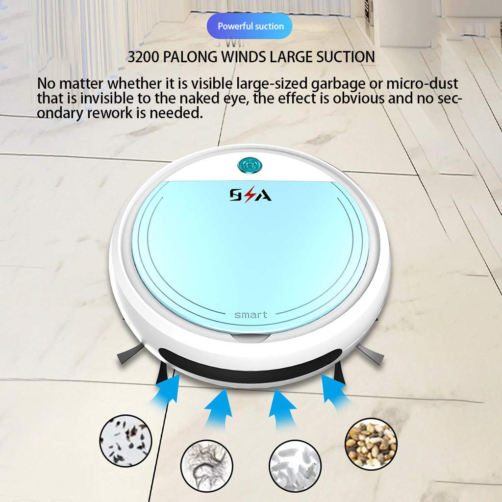 Super Suction Robotic Vacuum Cleaner - Smart Sweeping Robot Vacuum Cleaner  Floor Edge Dust Clean Auto Suction Sweeper for Pet Hair, Hard Floor, Carpet  (25x25x7cm, White): Amazon.in: Home & KitchenAmazon.in
