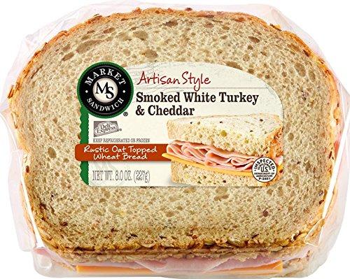 Deli Express Smoked Turkey and Cheddar Sandwich, 8 oz., (8 per case)