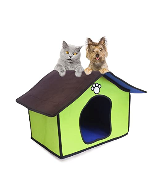 Caseta para perros y gatos de interior de fieltro: Amazon.es ...