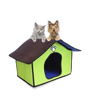 Caseta para perros y gatos de interior de fieltro